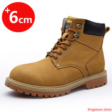 Boots Elevator-Shoes Winter 6CM Insoles Increase Men