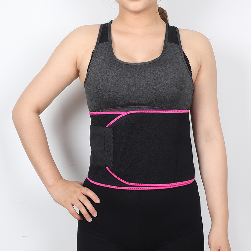 Sports Waist Supporter Diving Material Belly Bandit Waist Support Belt Sports Sweat Absorbing Breathable Plastic Waist Supporter