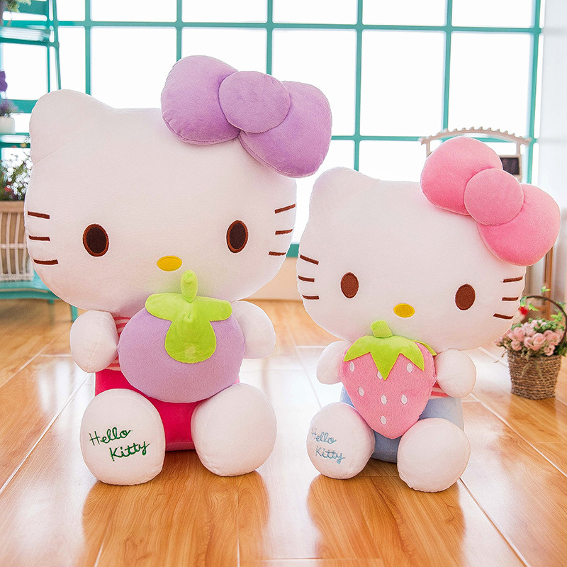 Hello Kitty Doll Plush Toys Creative Fruit Strawberry KT Cat Pillow Doll Batch
