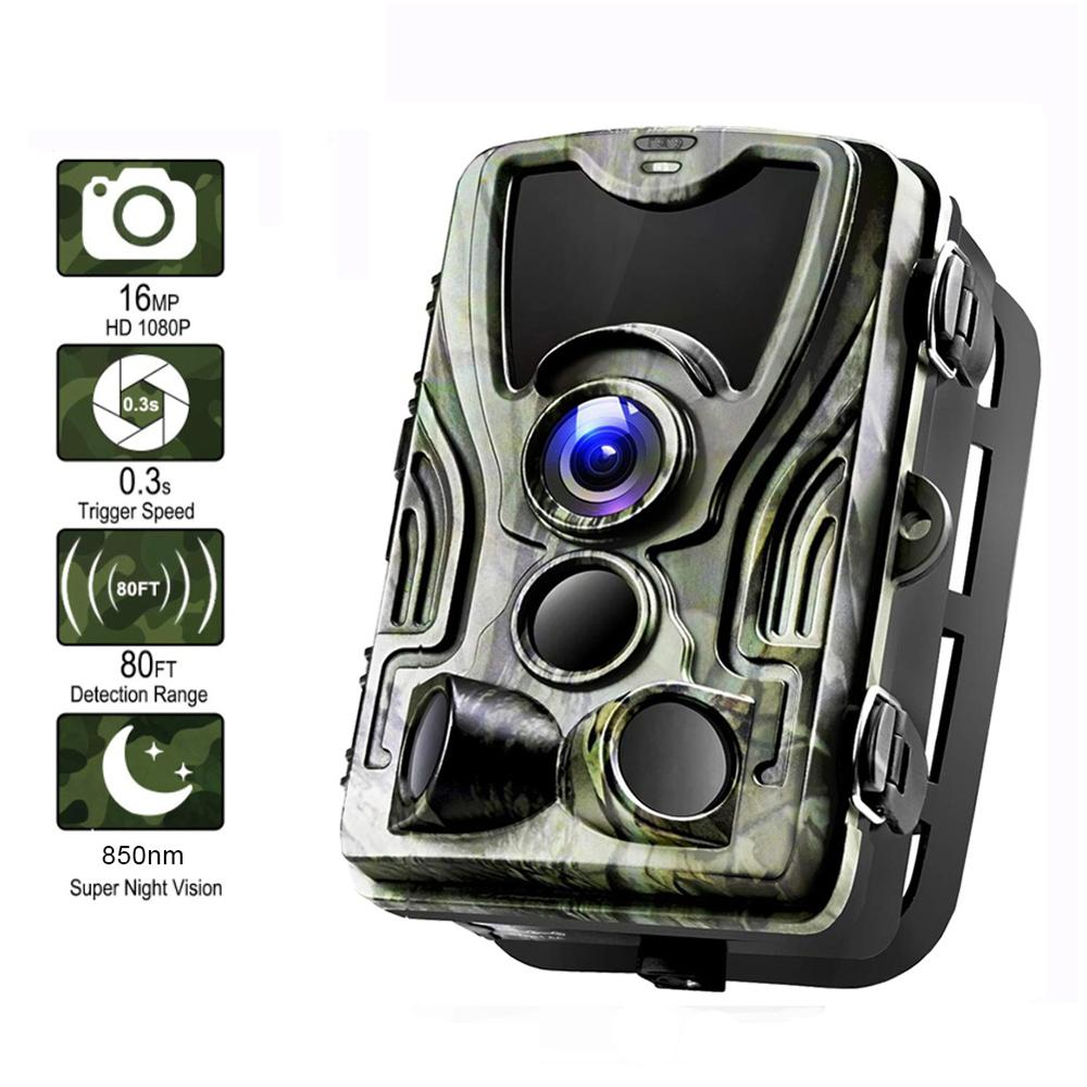Trail Hunting Camera  HC-801A 16MP 32GB 3PIR Waterproof Wildlife Wireless Motion Activated Stealth Eletronicks 940nm Game Scout