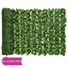 Artificial Ivy Privacy Fence Screen, 118x39.4in Artificial Hedges Fence and Faux Ivy Vine Leaf Decoration for Garden Decor