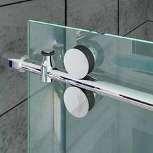 DIYHD 152cm/200cm Stainless Steel Shower Door Sliding Rail H