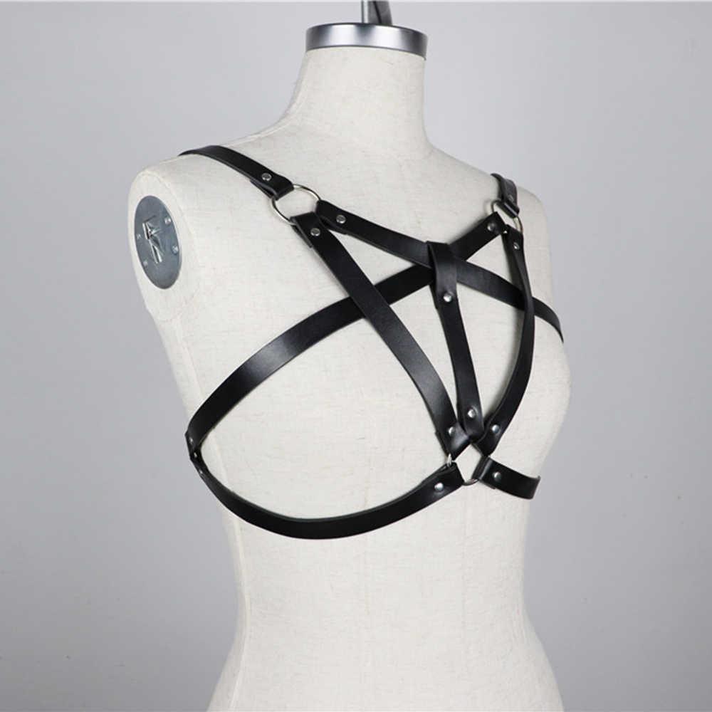 HY_Enchanting Moda Iç Çamaşırı Demeti Vücut Kafes Rave Sutyen Kemerler Gotik Punk Seksi Demeti Kadınlar Için Ayarlanabilir Üst Kemer Jartiyer
