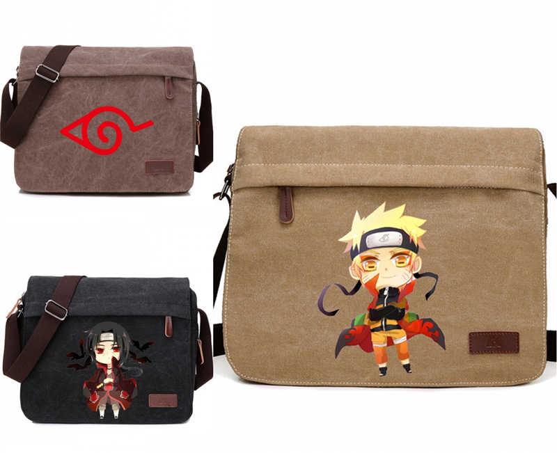 Karikatür Naruto Cosplay Hokage Uchiha Itachi askılı çanta Tuval Fermuarlı omuz çantaları Satchel Anime Crossbody Öğrenci Unisex Yeni