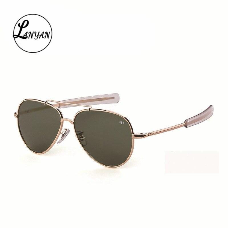 Aviação óculos de sol das mulheres dos homens 2020 exército americano militar óptico ao 8057 óculos de condução oculos de sol masculino