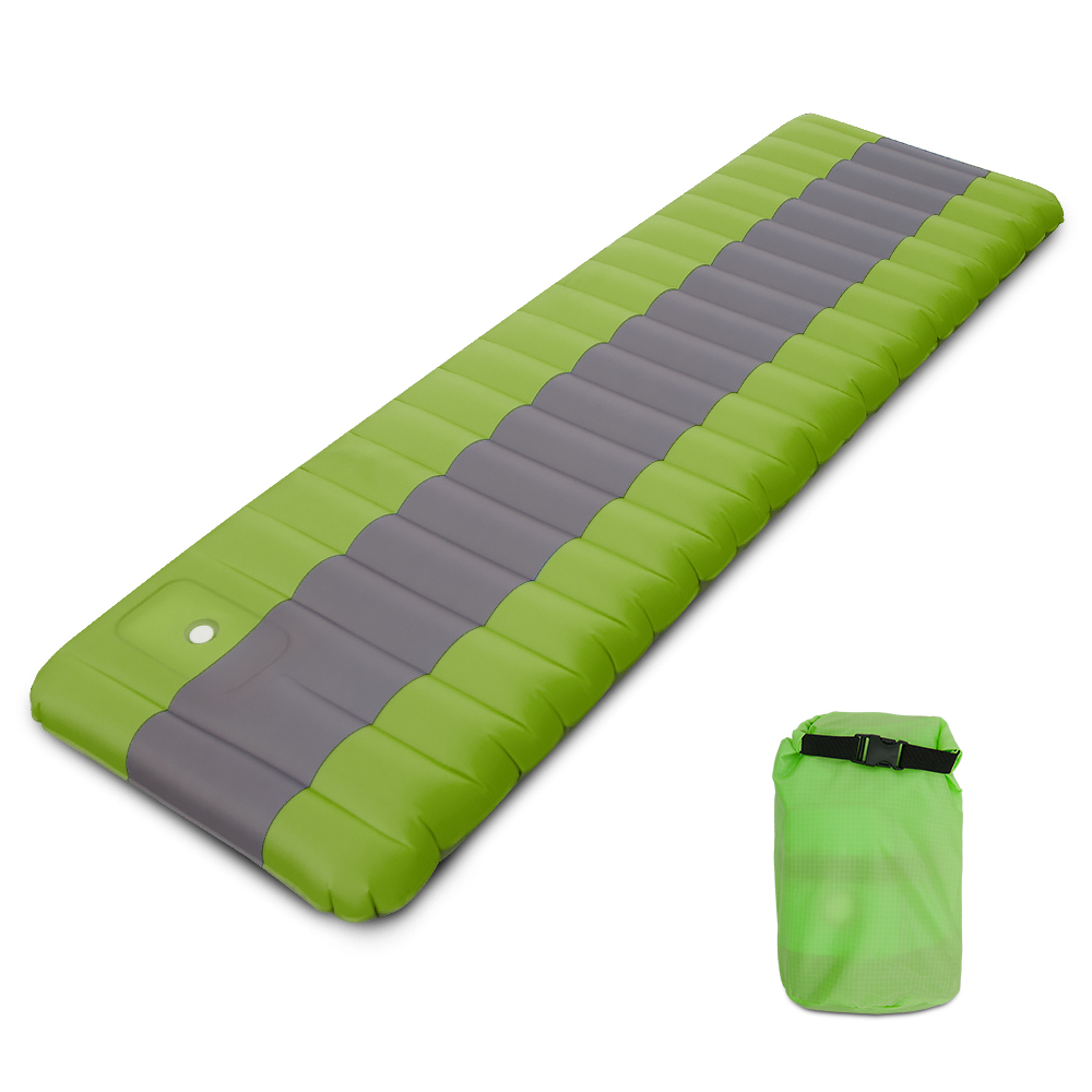 Coussin de couchage d'air extérieur gonflant tapis de sol tapis de Camping matelas sac à dos randonnée voyage avec pompe à pied intégrée