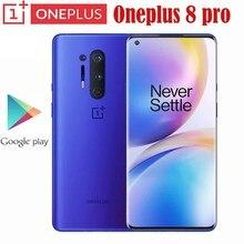 Oneplus 8 pro 5g smartphone snapdragon 865 8g 128g 6.87 '120hz display fluido 48mp quad 513ppi 30w carregamento sem fio rom global