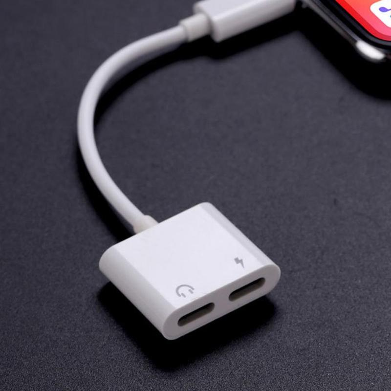 Charger Cable For Apple IPhone To Converter Mini 2 In 1 Splitter Adapter Earphone Jack Audio