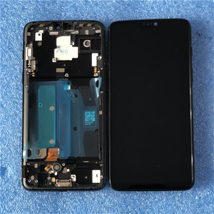 """Image 2 - 6.28"""" Original Super Amoled Axisinternational For OnePlus 6 Oneplus 6 LCD Display Screen  With Frame+Touch Panel Digitizer"""