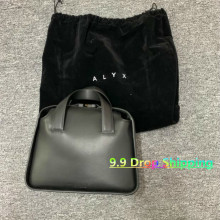 Label Backpacks Brie-Bags ALYX Black Double-Handle Women 9SM 1017 Logo-Bag Polished Fabric