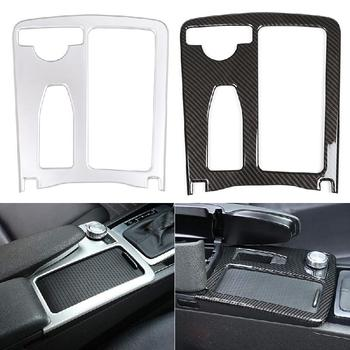 Car Styling Carbon fiber Multimedia Handrest Panel Covers For Mercedes Benz W204 W212 C Class E Class Interior Auto Accessories high quality fashion and durable for benz c class w204 models car mirror covers carbon fiber refit