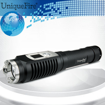 UniqueFire 1403  High Power Flashlight 10W Aluminum Alloy Black XML-2 LED  Waterproof 1200LM Lamp Torch For Night Camping Riding
