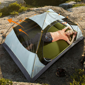 Image 4 - Hewolf 야외 초경량 캠핑 2 명 알루미늄 텐트 더블 레이어 방수 캠핑 텐트 Carpas De Camping