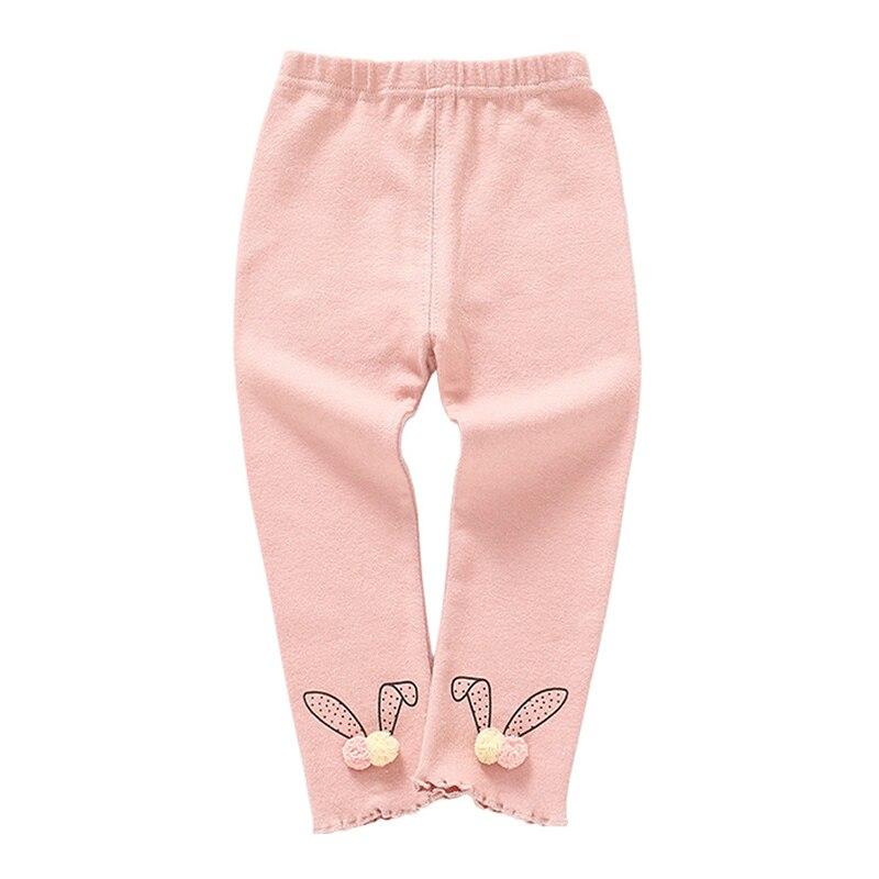 Autumn Newborn Baby Girls Pants Cotton Leggings Elastic Waist Cartoon Print Toddler Bottom in Pants from Mother Kids