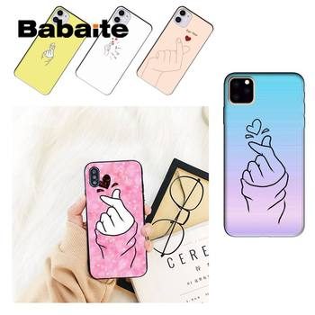 Чехол для телефона Babaite kpop Love on the finger heart для iPhone 8 7 6 6S Plus X XS MAX 5 5S SE XR 11 11pro promax 12 12Pro Promax image
