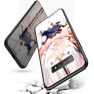 Мультяшный чехол из закаленного стекла для телефона Samsung Galaxy Note 10 9 8 S20 Ultra S10 E 5G S9 S8 S7 Plus, роскошный чехол