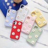 3D flores Daisy de silicona suave funda de teléfono para Xiaomi Redmi Note 4 5 6 7 8 9 Pro 9S S2 Y2 4A 4X 6A 7A 8A 8T nota 5A primer 5 Plus