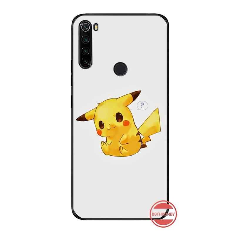Japon animasyon Pikachu sevimli telefon kılıfı kapak Xiaomi Redmi için not 4 4x5 6 7 8 pro S2 artı 6A PRO