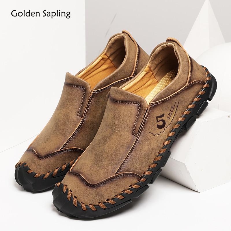 Golden Sapling Lightweight Trekking Shoes Men Breathable 2020 Summer Men's Sneakers Large Size Slip-on Outdoor Hiking Sport Shoe