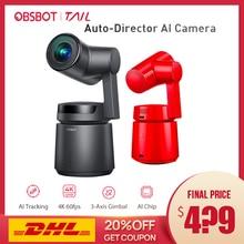 OBSBOT Tail Auto Directeur AI Camera Spoor auto zoom capture tot 4 K/60fps vs insta360 een x evo 360 camera