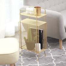 Современная модная дизайнерская металлическая Золотая розовая Роскошная многослойная стальная проволочная стойка для журналов, органайзер для хранения книг