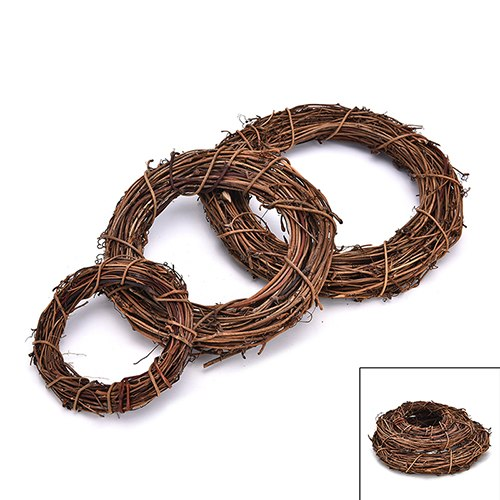 New Year Wedding Wreaths Decoration Garland Material Rattan Wreath DIY Wreath Party Decoration 10cm/15cm/20cm