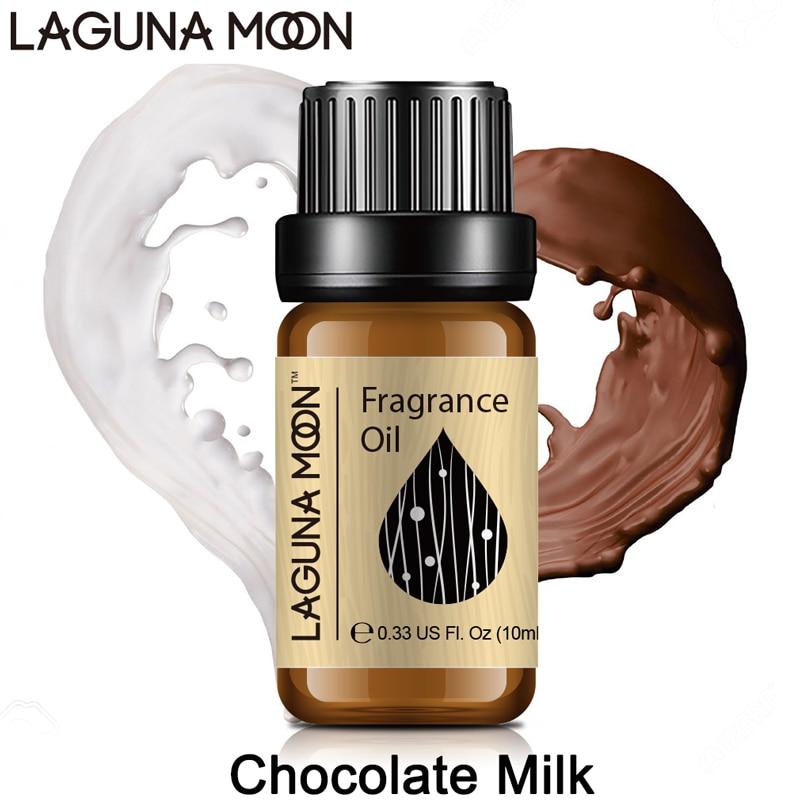 Lagunamoon 10ml Fragrance Oil Gardenia Chocolate Milk Jasmine Orange Coconut Cucumber Lotus Peppermint Patchouli Oil Aroma(China)