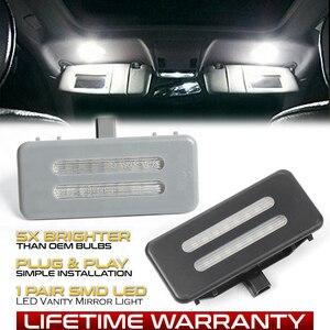 2Pcs LED Sun Visor Vanity Mirror Lamp For BMW E60 E61 E90 E91 E92 E70 E71 E72 X1 E84 X3 F25 X5 E70 X6 E71 E72 Reading Lights