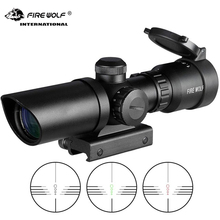 Fire Wolf Outdoor 1.5-5X32 Tactical Short Range Hunting Rifle Mirror Red Dot Green Illumination Optical Sight 20mm Bow Hunt