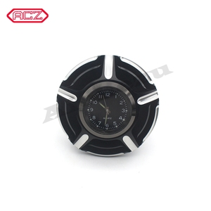 Image 3 - CNC Aluminum Motorcycle Fuel Gas Tank with Clock for Harley Davidson Sportster XL 1200 883 X48 Dyna Decorative Oil Cap