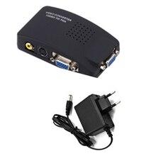 Rca-Vga-Converter Switch S-Video To PC AV LC Composite Box-Eu-Plug Av-Input
