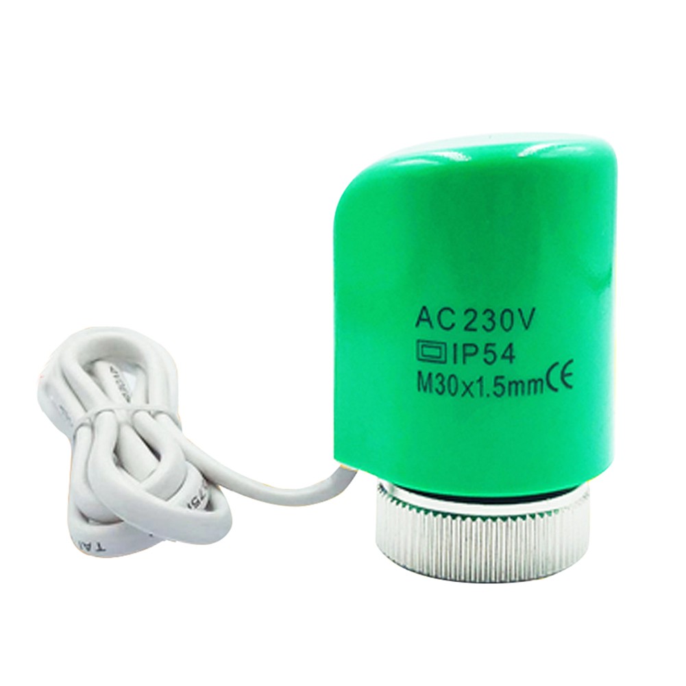 230V 2W Practical Temperature Control Accessories Electric Thermal Actuator Home Normally Open Close PC For Underfloor Heating