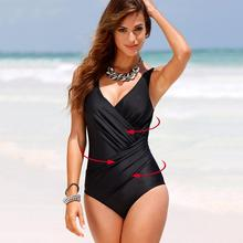 Plus Size Swimwear Women One Piece Swimsuit 2019 Large Retro Onepiece Bathing Suit Swim Wear Swimming