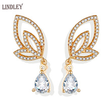 pataya new 585 rose gold extreme luxury micro wax inlay natural zircon flowers chokers necklace women wedding party fine jewelry LINDLEY Retro Dangle luxury Gold Earrings For Women 585 rose gold Wing zircon stud earrings Jewelry Wedding fine gift Accessorie
