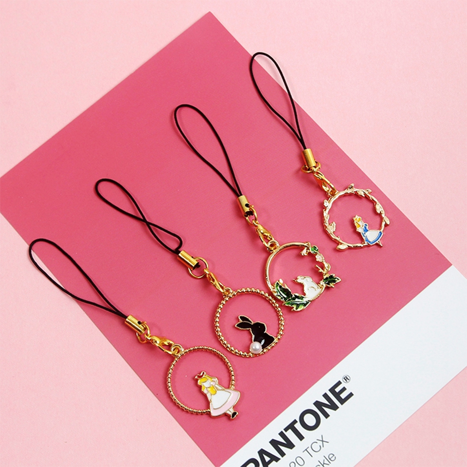 Smart Phone Strap Lanyards For IPhone Samsung Xiaomi Huawei Luxury Girl Dreamy Decor Mobile Phone Strap Rope SmartPhone Charm