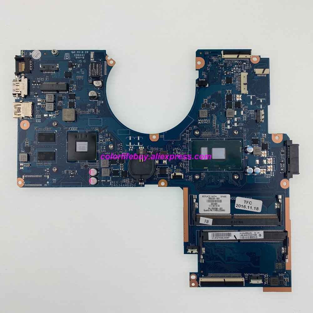 Genuine 856228-601 856228-001 DAG34AMB6D0 i5-6200U <font><b>940MX</b></font>/2GB Laptop Motherboard for HP Pavilion 15-AU 15T-AU000 Notebook PC image
