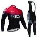2020 ineos equipe camisa de ciclismo 20d calças bicicleta conjunto ropa ciclismo dos homens inverno velo térmico pro ciclismo jérsei maillot wear