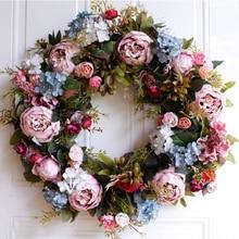 53 センチメートルドア花輪大花輪造花花輪ドアの装飾家の装飾農家deocrハワイ