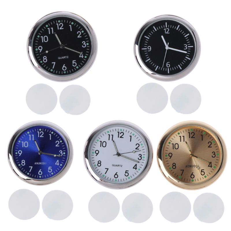 1 PC Universal Car Clock Stick-On Electronic Watch Dashboard Noctilucent Decoration For SUV Cars Clocks