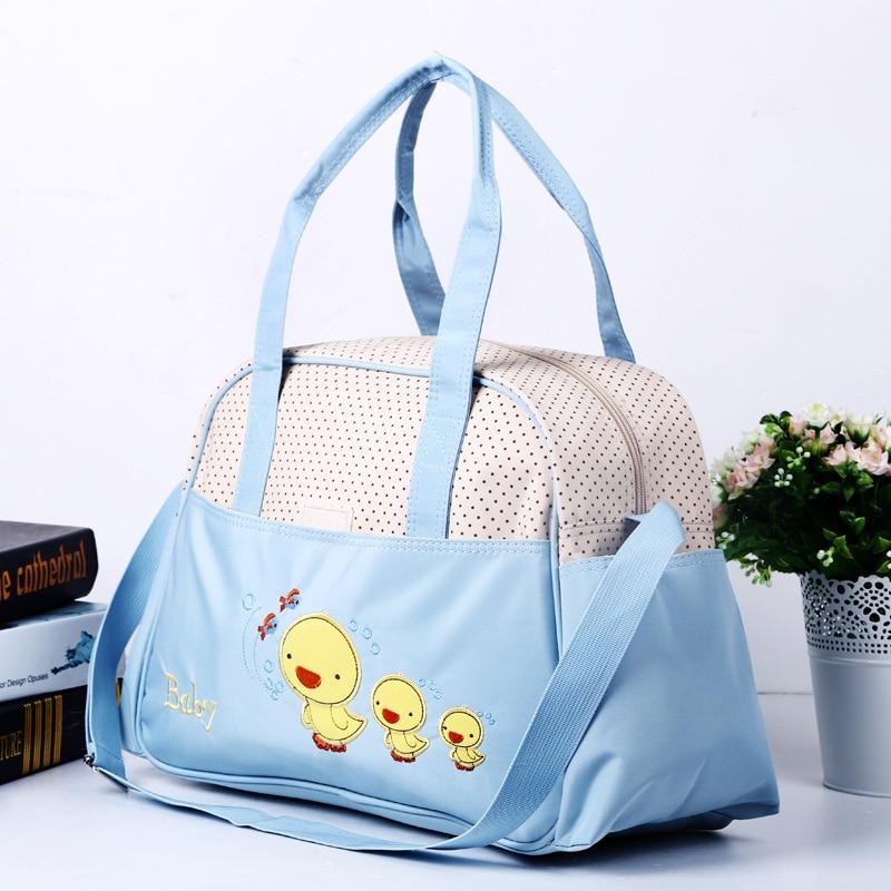 Embroidered Chickens Multi-functional Large-Volume Diaper Bag Hand Fashion Shoulder Mommy Bag Nursing Backpack MOTHER'S Bag