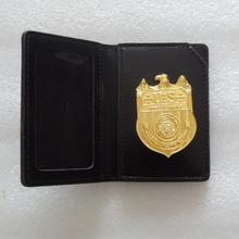 Halloween Cosplay NCIS odznaka agenci specjalni marynarka wojenna kryminalna służba śledcza film w całości z metalu złoty z etui na uchwyt tanie tanio BADGE CN (pochodzenie)