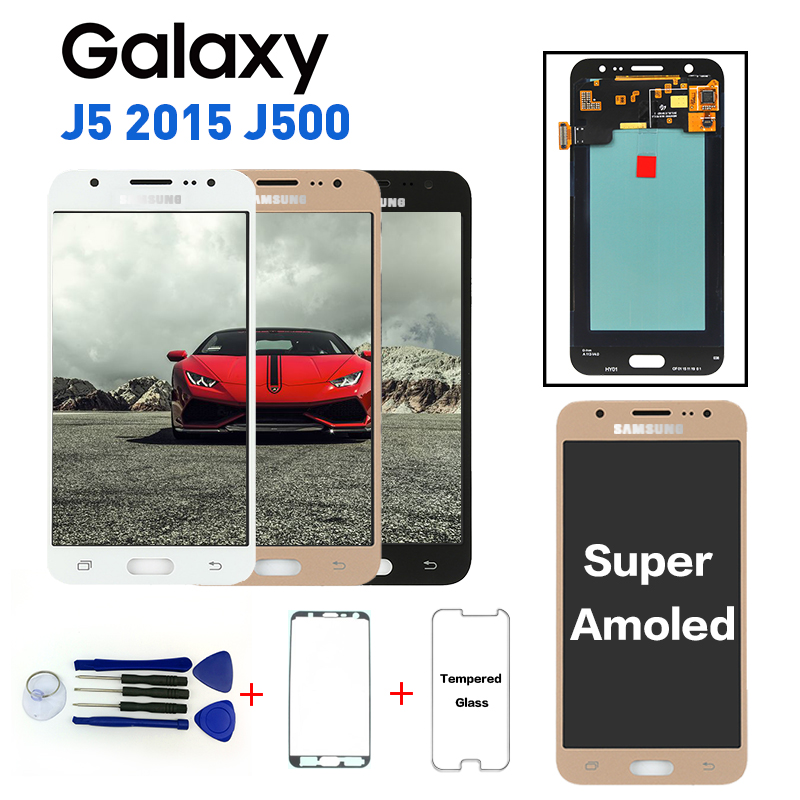 Super Amoled Ersatz <font><b>LCD</b></font> Display Für Samsung Galaxy J5 2015 J500 <font><b>J500F</b></font> J500FN J500H J500M Touch Digitizer Montage Getestet image