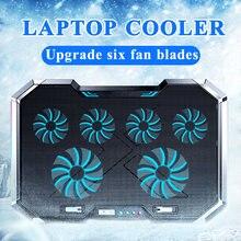 18 дюймов игровой кулер для ноутбука с шестью вентиляторами