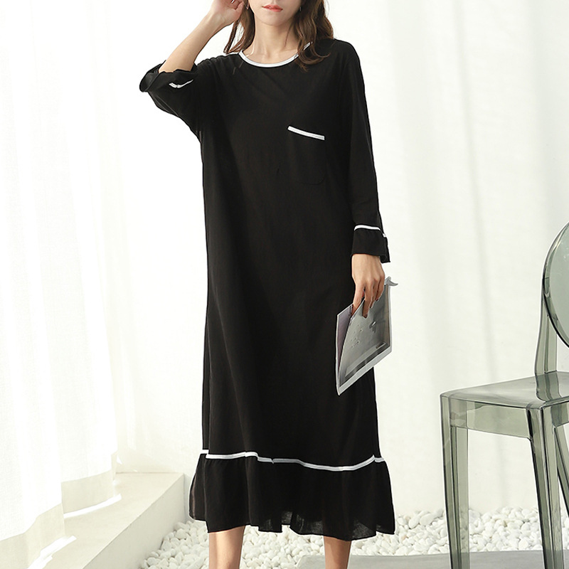 Plus Size 3XL New Ladys Nightgown Nightie Casual Long Maternity Dress Home Dress Sleepwear Pregnant Night Shirt Loose Nightwear