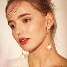 CHENFAN earrings fashion pearl for women womens 2019 stud jewelry