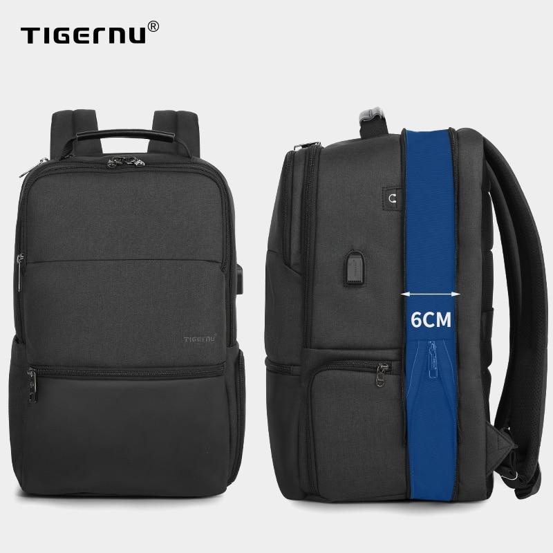 Tigernu-sac à dos extensible pour hommes, sacoche pour ordinateur portable/ordinateur de 15.6 à 19 pouces, sacoche de voyage, grande capacité à la mode masculine