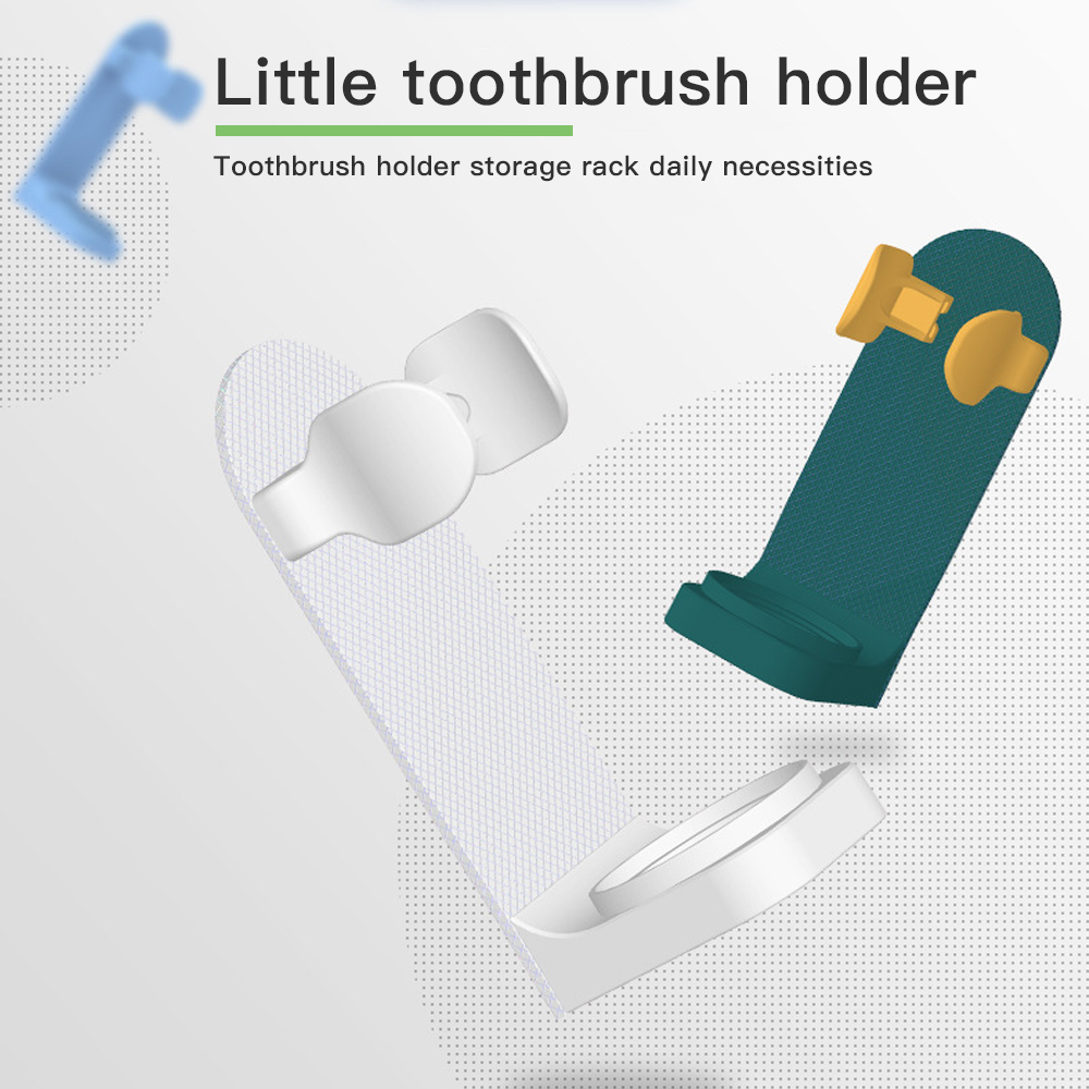 Toothbrush Stand Rack Organizer Paste Type Electric Toothbrush Wall-Mounted Holder Space Saving Bathroom Storage Accessories 1pc image