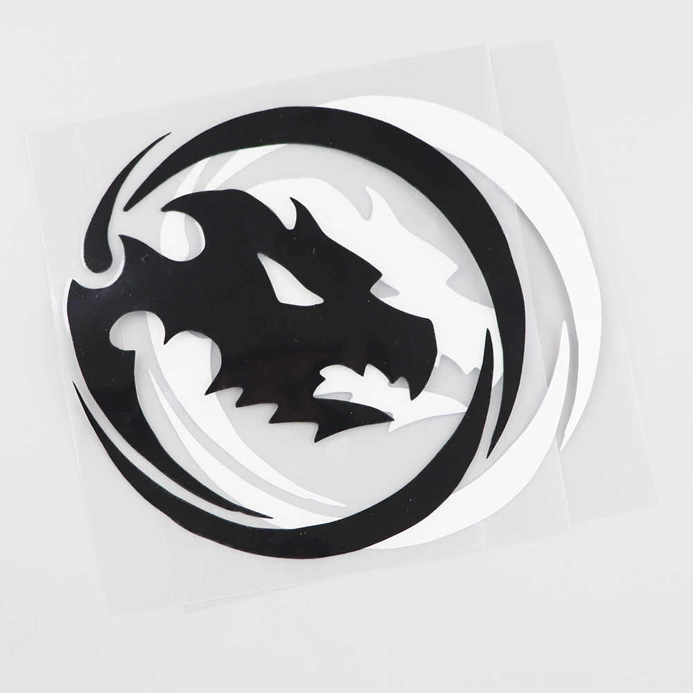 Yjzt 16.8CMX10CM Hoge Kwaliteit Dragon Hoofd Venster Accessoires Decals Vinyl Auto Sticker 13C-0162