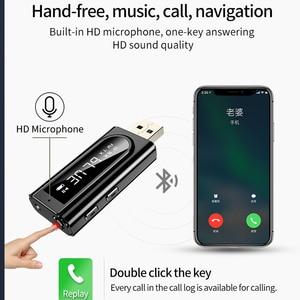 Image 4 - Bluetooth 5.0 Receiver Transmitter LED Car FM Modulator Card Reader 3.5mm AUX Jack RCA USB Wireless Audio Adapter Handsfree Mic