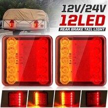 2個12v 24v 10 led車のトラックテールライトテールライトリアストップインジケータ信号ランプボートトレーラーキャラバンバンローリー